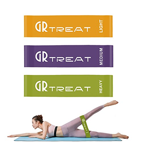 GUARD & REVIVAL TREAT Resistance Loop Band, 3″ Width Exercise Band for Legs & Butt, Best Training, Pilates, Power Lifting, Stretching, Physical Therapy, Yoga, Rehab, Home Fitness (Set of Three) For Sale