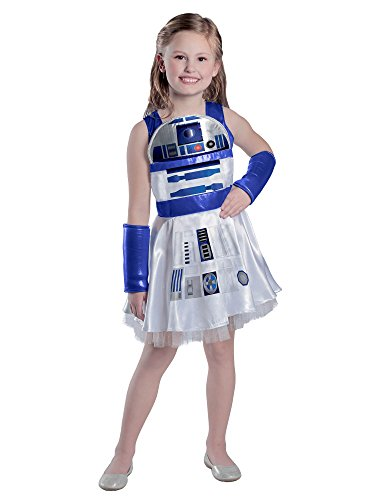 Princess Paradise Girls' Classic Star Wars R2d2 Dress, White, Large