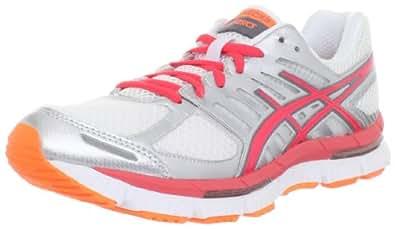 ASICS Women's Gel-Neo33 2 Running Shoe,White/Hot Punch/Flash Orange,5 M US