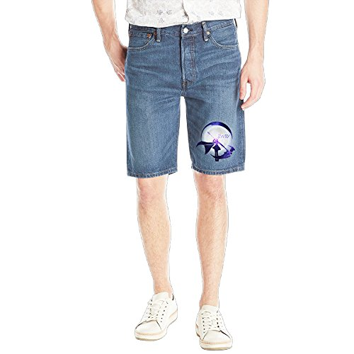 ^GinaR^ Rwby Starry Crescent Sky Ruby Rose Logo New Design Five-Pocket Jean Short