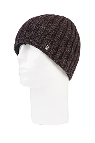 Heat Holders - Men's Thermal Fleece Ribbed Knitted Winter Hat 3.4 Tog - One Size (Brown) (Heat Holders Thermal Hat compare prices)