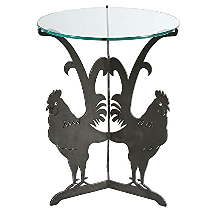 Merveilleux Rooster Table (Unfinished Steel) Cricket Forge   Outdoor / Indoor   Steel