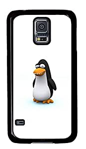 Samsung Galaxy S5 Cases & Covers - Funny 3D Cartoon Penguin PC Custom Soft Case Cover Protector for Samsung Galaxy S5 - Black