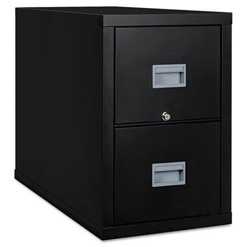 FireKing 2P1831CBL Patriot Insulated Two-Drawer Fire File, 17-3/4w x 31-5/8d x 27-3/4h, Black