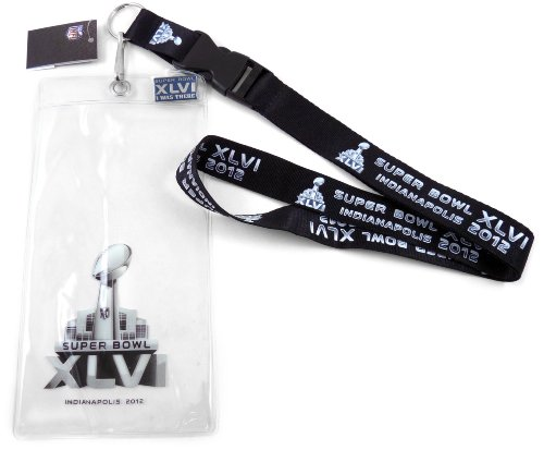 NFL 2012 Super Bowl XLVI in Indianapolis Lanyard with Ticket Holder and