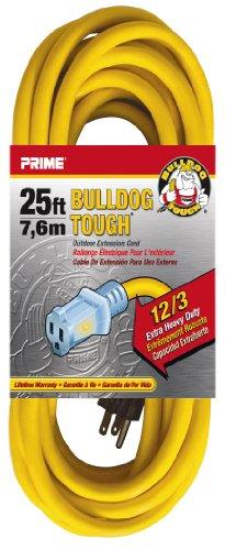 Prime Wire & Cable LT511825 25-Foot 12/3 SJTOW Bulldog Tough