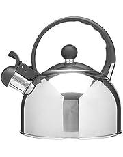 Mimo Style, Chaleira Com Assobio de Alerta, Alça e Tampa Flip-up, Capacidade Para 2 Litros e Acabamento Espelhado, Produzida em Aço Inox de Alta Qualidade e Durabilidade