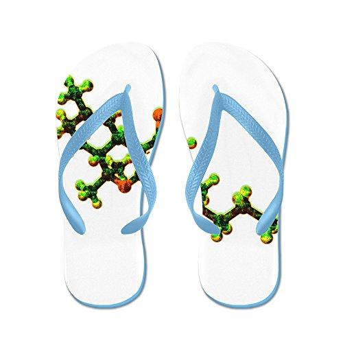 Cafepress Thc Molekyl - Flip Flops, Roliga Rem Sandaler, Strand Sandaler Caribbean Blue