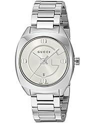 Gucci Swiss Quartz Stainless Steel Dress Silver-Toned Womens Watch(Model: YA142502)