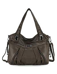 Scarleton Zipper Washed Shoulder Bag H1472