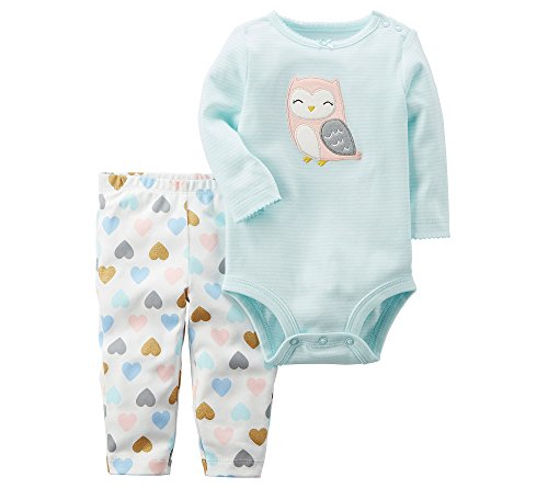 Carter's Baby Girls' 2 Piece Owl Bodysuit And Pants Set 24 Months