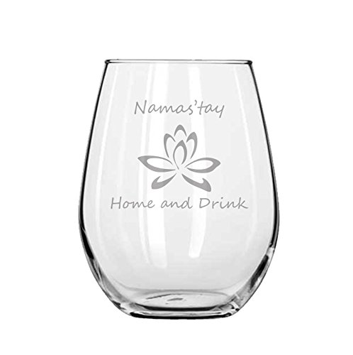 Yoga – Namas'tay Home and Drink – Birthday Gift- Yogi – Fitness – Funny – Work Out – Boho – Handmade – Housewarming