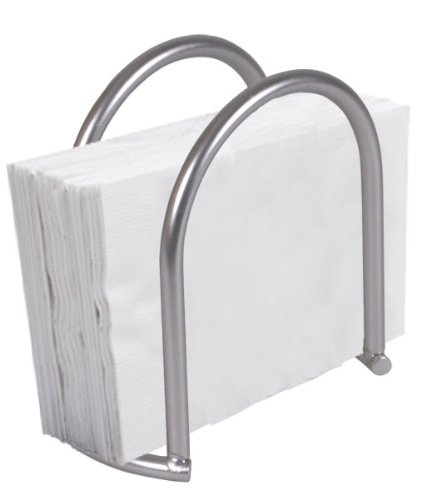 Home Basics Napkin Holder, Satin Nickel Simplicity Collection by Home Basics