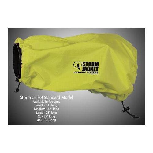 Vortex Media Storm Jacket Cover for an SLR Camera with a Short Lens Measuring up to 9'' from Rear of Body to Front of Lens, Color: Yellow by Vortex