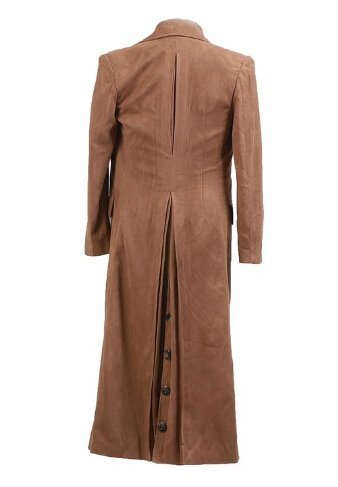 Doctor Who Cosplay Costume Dr Brown Trench Coat New Version By CharmingCoco]()