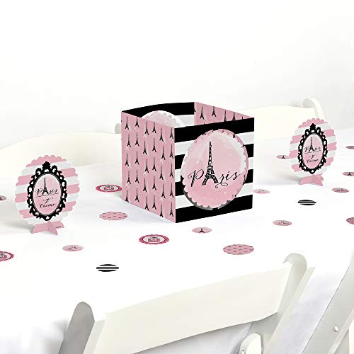 Big Dot of Happiness Paris, Ooh La La - Paris Themed Baby Shower or Birthday Party Centerpiece & Table Decoration Kit