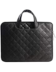 Laptop Bag for Man or Women Slim Light Business Briefcase Messenger Bag Water Resistant Portable Computer Carrying Sleeve Case w/Strap and Hidden Handle Fits 13.3/15.6 Inch Laptop (13.3, Black)