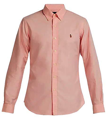 - Polo Ralph Lauren Mens Classic Fit Oxford Longsleeve Buttondown Shirt (Small, Pink)