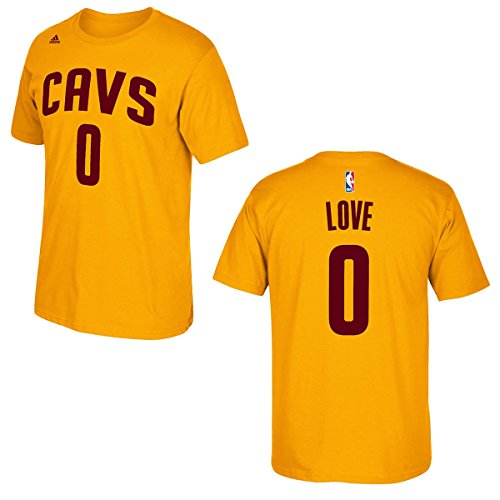 adidas Kevin Love Cleveland Cavaliers Gold Game Time Jersey Name and Number T-Shirt XX-Large