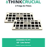 2 GE Fridge Odor Air Filter For Cafe Series, Fits CFE28TSHSS, CYE22TSHSS, CZS25TSESS & CNS23SSHSS, by Think Crucial