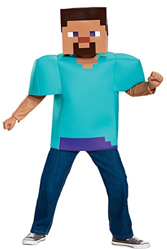 Steve Classic Minecraft Costume, Multicolor, Medium (Minecraft Halloween Costume Skin)