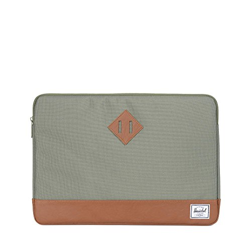 Herschel Heritage Sleeve for inch Macbook Deep Lichen Green/Tan Synthetic Leather