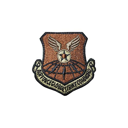 US Air Force Global Strike Command OCP Scorpion Spice Brown Patch with Hook Fastener