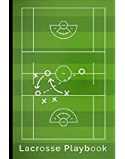 """Lacrosse Playbook: Lacrosse Notebook - Portable 6x9"""" - 120 Pages Notebook Log"""