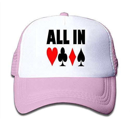- Verna Christopher Boys Girls Poker Addict Trucker Hat Toddler Cool Snapback Cap Baseball for Kids