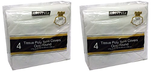 - ArtStyle Tissue Poly Table Covers Octy Round 4 Pack (2, 4 Pack)