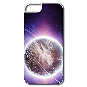 IPhone 5 Cover, Modern Planet Cases For IPhone 5/5S - White Hard Plastic