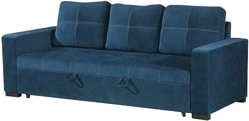 Benjara Polyfiber Convertible Sofa