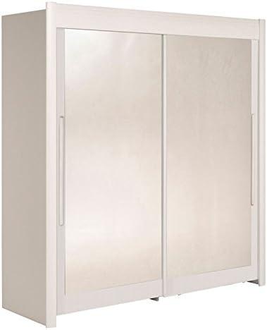 Tousmesmeubles Armario Dressing 2 Puertas 200 cm Blanco – Jade – L 204 x l 61 x H 207 – Neuf: Amazon.es: Hogar