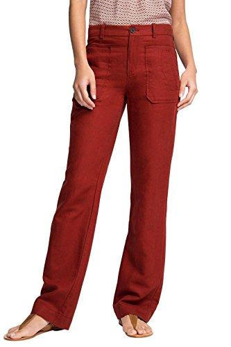 edc by Esprit Mit Leinen, Pantalones para Mujer Rojo (GARNET RED 620)