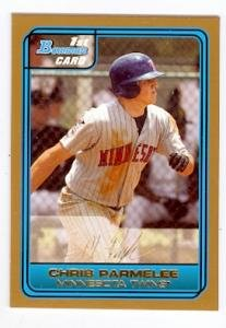 Chris Parmelee baseball card (Minnesota Twins) 2007 Bowman #DP4 GOLD Rookie card ()