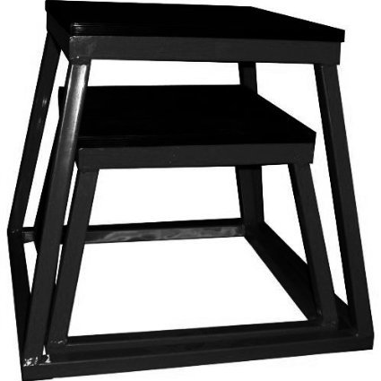 Ader Plyometric Platform Set- 12'' & 18'' ALL Black Color by Ader Sporting Goods