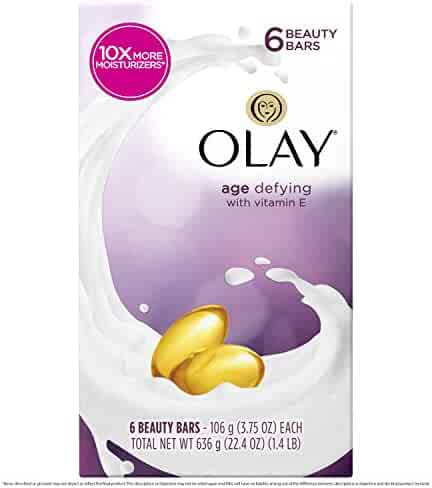 Olay Moisture Outlast Age Defying Beauty Bar, Packaging May Vary, 6 Count