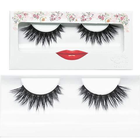 (False Eyelashes Faux Mink Dramatic Strip Lashes - LashXO Lucky Lola Faux Mink -3pack Premium False Eyelashes Compare to brand Make Up Forever and House of Lashes )