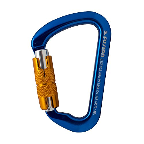 Aluminum Auto-Lock Modified D-Shape Carabiner Blue (Cypher Carabiner)