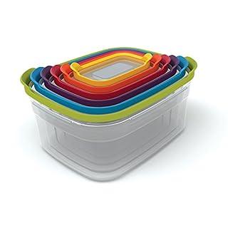 Joseph Joseph Nest Plastic Food Storage Containers Set with Lids Airtight Microwave Safe, 12-Piece, Multi-color