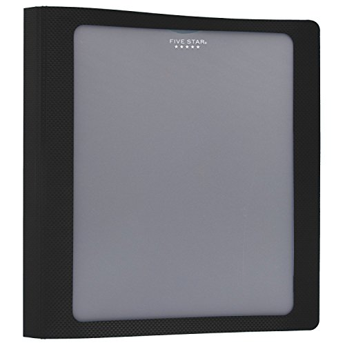- Five Star 1-1/2 Inch 3 Ring Binder, View Binder, Customizable Cover, Black (73364)