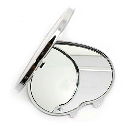 Heart Compact Mirror (SUKRAGRAHA 3 pc Shiny Heart Shape Compact Purse Mirror Assorted Color and Pattern)