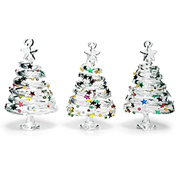 Amazon.com: Red Carpet Studios Miniature Glass Christmas ...