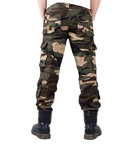 Poches Pantalon Homme Vert Chengyang Cargo Combat De Camouflage Foncé Multi Travail Militaire BSpqzCwxf