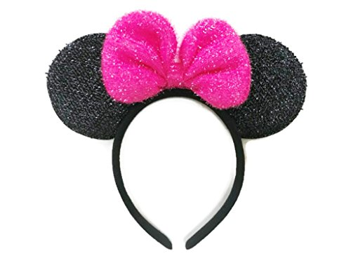 Diy Aviator Costume (MeeTHan Mickey Mouse Minnie Mouse Ears Headband Sparking : M7 (MCB-Pink2))
