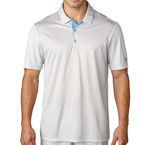 Adidas Mens Climacool Gradient Polo White/Stone L