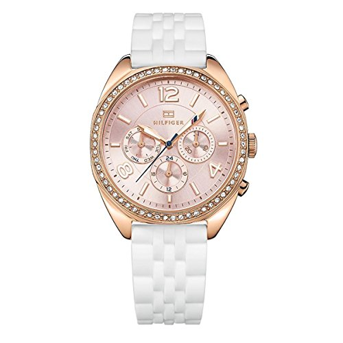 Tommy Hilfiger Rose Gold-Tone Silicone Ladies Watch 1781568