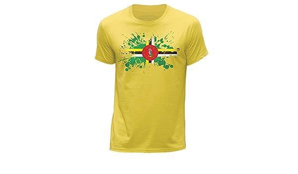 STUFF4 Boy/'s Yellow Round Neck T-Shirt//Jamaica//Jamaican Flag Splat//SZ