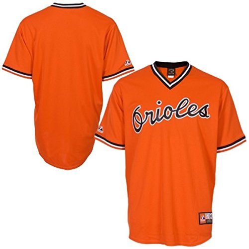 - Baltimore Orioles Majestic Big & Tall Cooperstown Mens Replica Jersey - Orange - Size 4XLT