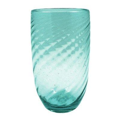 Swirl Highball Glass (Set of 4) Finish: Aqua